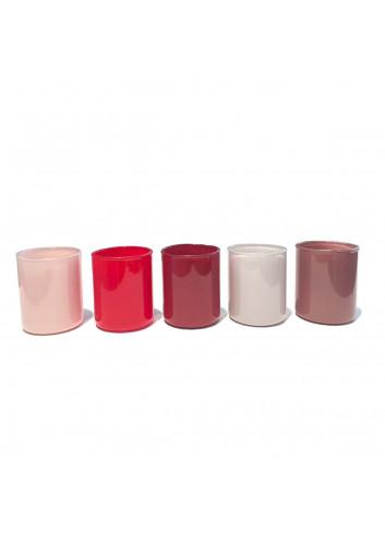 Tea light holder Spot Votive (set of 5) - Red