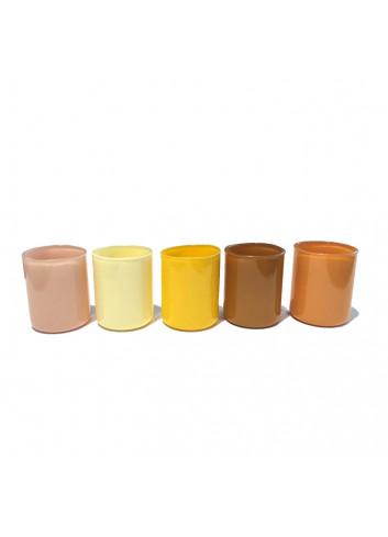 Tea light holder Spot Votive (set of 5) - Yellow