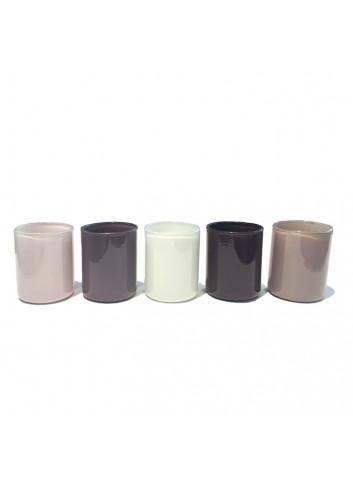 Tea light holder Spot Votive (set of 5) - Grey