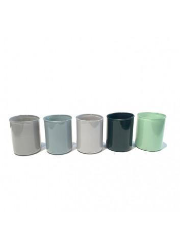 Tea light holder Spot Votive (set of 5) - Green