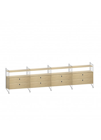 Dresser/Shelving System - Black/Oak