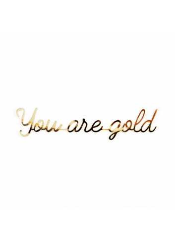 Self-adhesive Quote - You are gold/gold