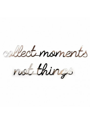 Self-adhesive Quote - Collect moments/black