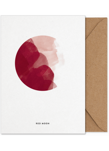 Art Card - Red Moon (A5)