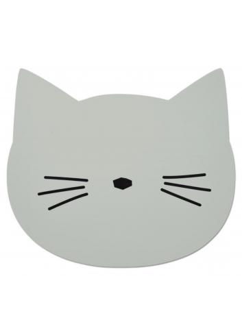 Aura placemat - Cat dusty mint