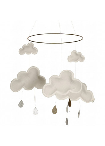 Mobile clouds white/gold