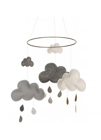 Mobiel wolkjes zwart/grijs