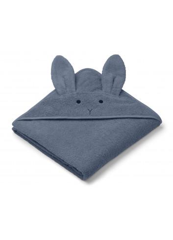 Augusta hooded towel - rabbit blue wave