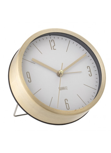 Table Clock - gold/white
