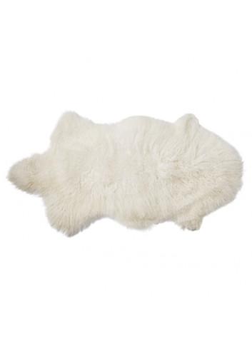 Organic Lambskin Mongolian - white