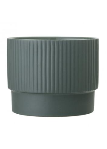 Bloempot keramiek Ø15 - groen