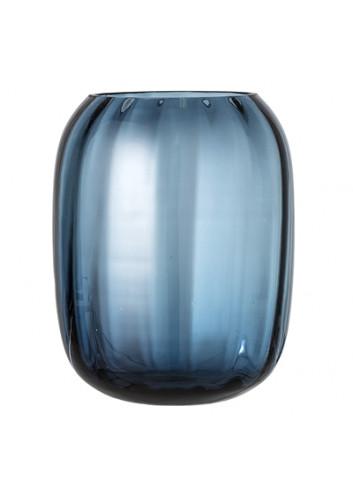 Vase, Blue, Glass