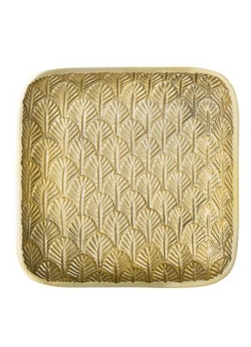 Tray w/ pattern - gold aluminium