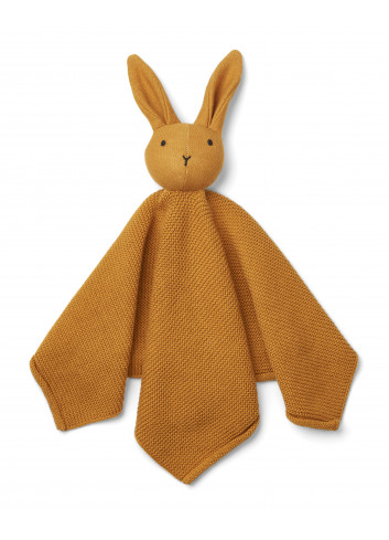 Milo knit cuddle cloth - rabbit mustard