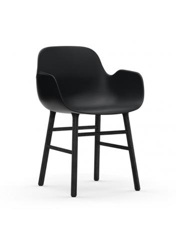 Form Armchair - Black/Wood