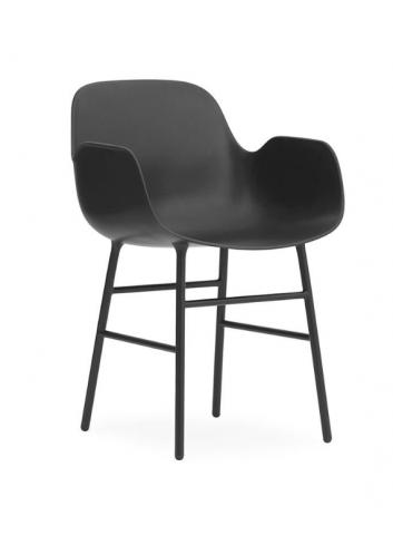 Form Armchair - Steel/Black