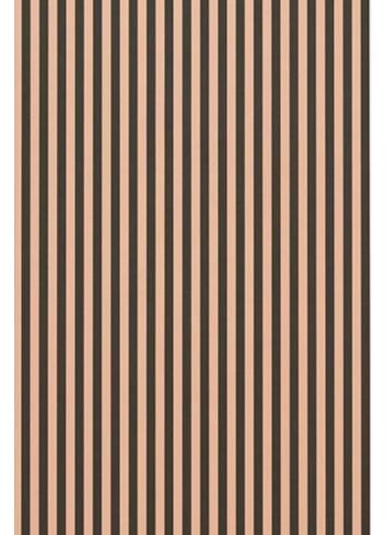 Wallpaper Thin Lines - Green/Rose