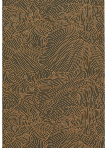 Wallpaper Coral - green/gold