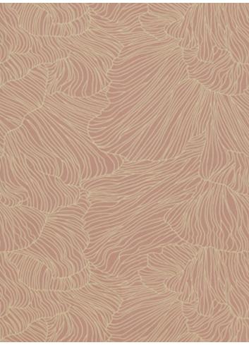 Wallpaper Coral - dusty rose/beige