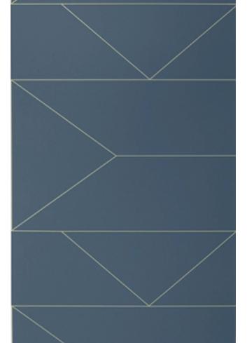 Wallpaper Lines - Dark blue
