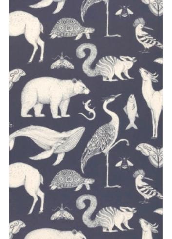 Wallpaper Katie Scott Animals - dark blue