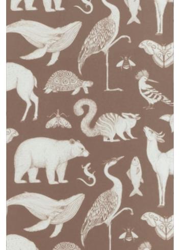 Wallpaper Katie Scott Animals - brown