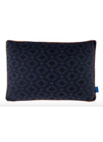 Cushion Woven Dot 40x60 - Blue/Coral