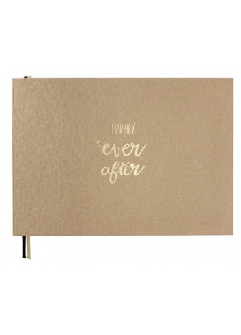 Boek gelijmd - Happily Ever After Gastenboek - Kraft - Large