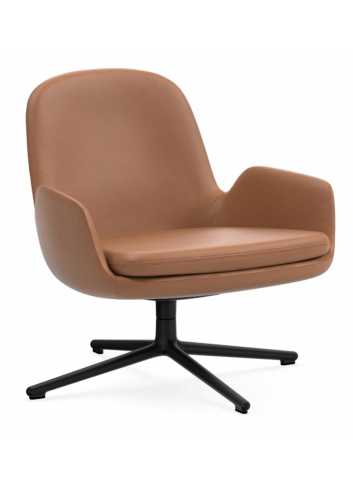 Era Lounge Chair Low Swivel - Leather