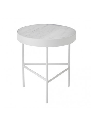 Marble Table - White - Medium