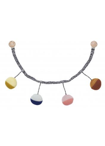 Ball knitted Pram Chain