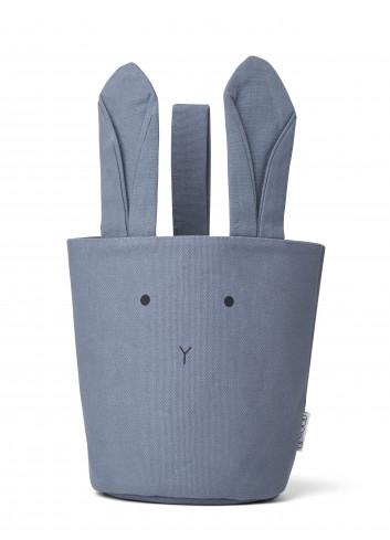 Ib fabric basket - rabbit blue wave