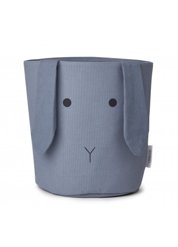 Ella Fabric basket - rabbit blue wave