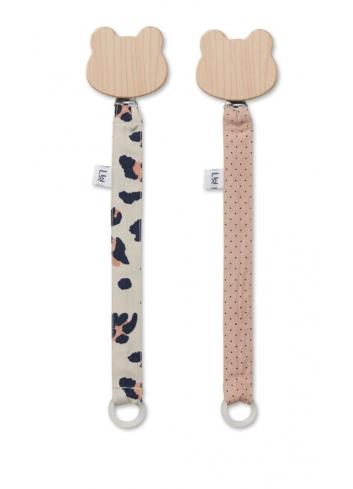Sia pacifier strap 2 pack - leo beige beauty