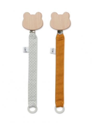 Sia pacifier strap 2 pack - mustard / dumbo grey