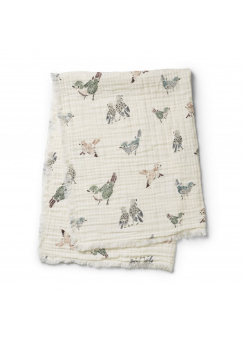 Soft Cotton Blanket - Feathered Friends