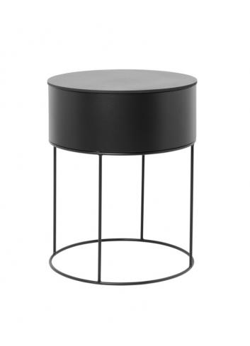Coffee table (plant box & top) - black