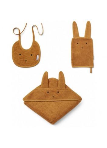 Adele terry baby pakket - konijn mustard
