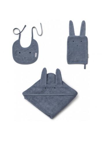 Adele terry baby pakket - konijn donkerblauw