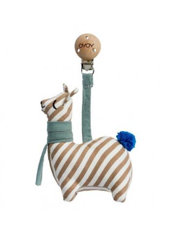 Kinderwagen speeltje / knuffel met clip - Lama