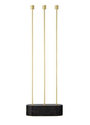 Floor candle holder GRASIL - marble/gold