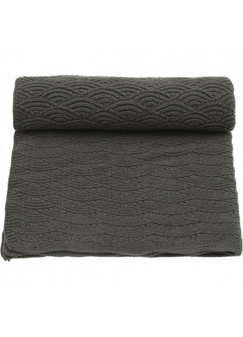 Pointelle blanket 100x70cm - Ivy Green