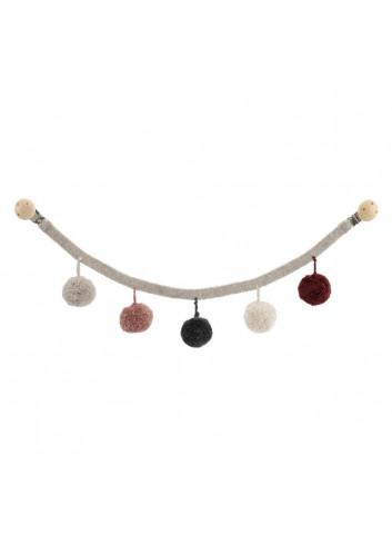 Pram Chain - Grey/Rosa
