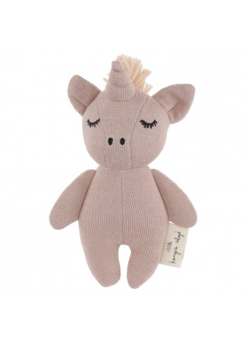 Rattle Mini Unicorn - rose fawn