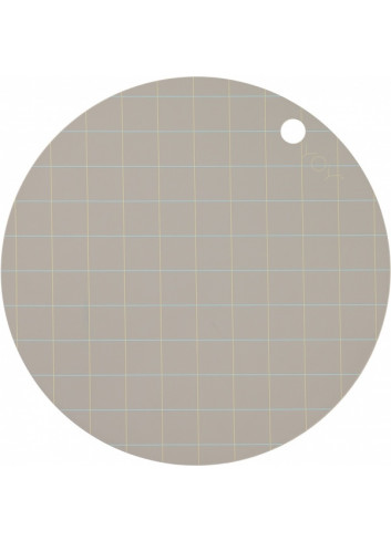 Placemat Round (2pack) - Hokei Clay