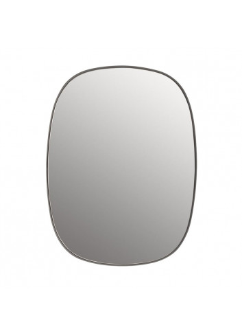 Framed Spiegel Small - Grijs/Clear