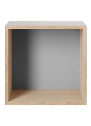 Mini Stacked 2.0 Storage System - Medium/Oak/Light Grey