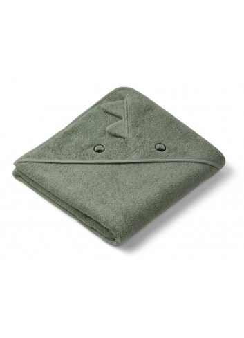 Augusta Hooded Towel - Dino Faune Green