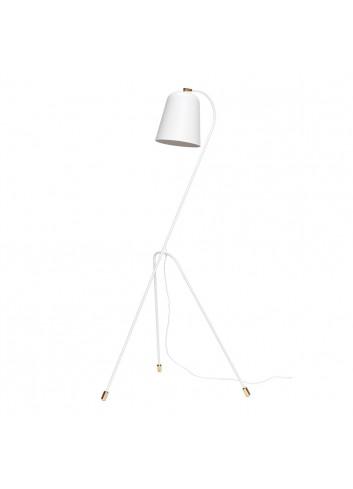 Floor lamp - white/brass