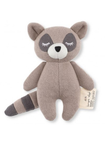 Rattle Mini Raccoon - Brown
